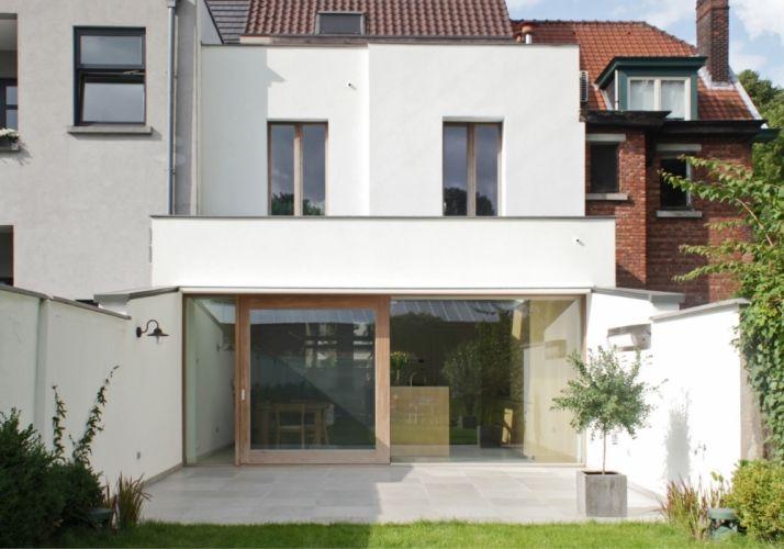 Mortsel, Antwerpen, Eengezinswoning koppelbouw - rijwoning, Renovatie en uitbreiding,