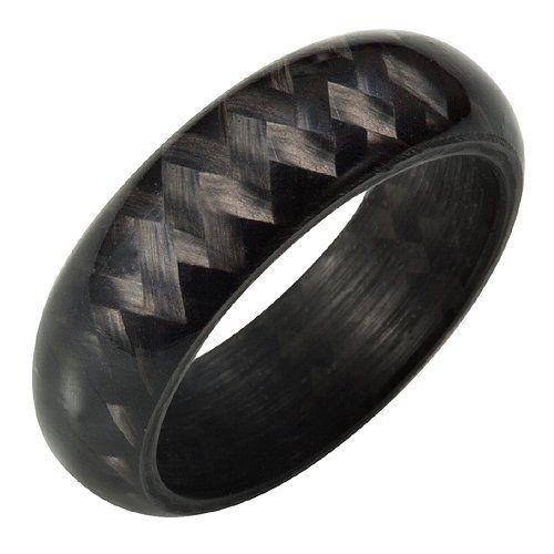 Willis Judd Mens New Solid Carbon Fiber Ring In Black Velvet Ring Box: Jewelry: Amazon.com