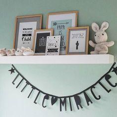 ✖✖✖ #babysroom #babykamerinspiratie #babykamer #mintgreen #mintgroen #littlemiracle #littleboysroom #letterbanner #babyroominspo #wezijnerklaarvoorkleintje ❤❤❤