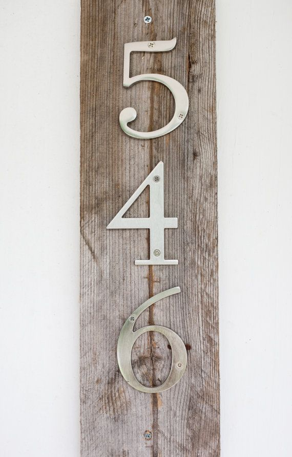modern rustic house numbers on etsy our little