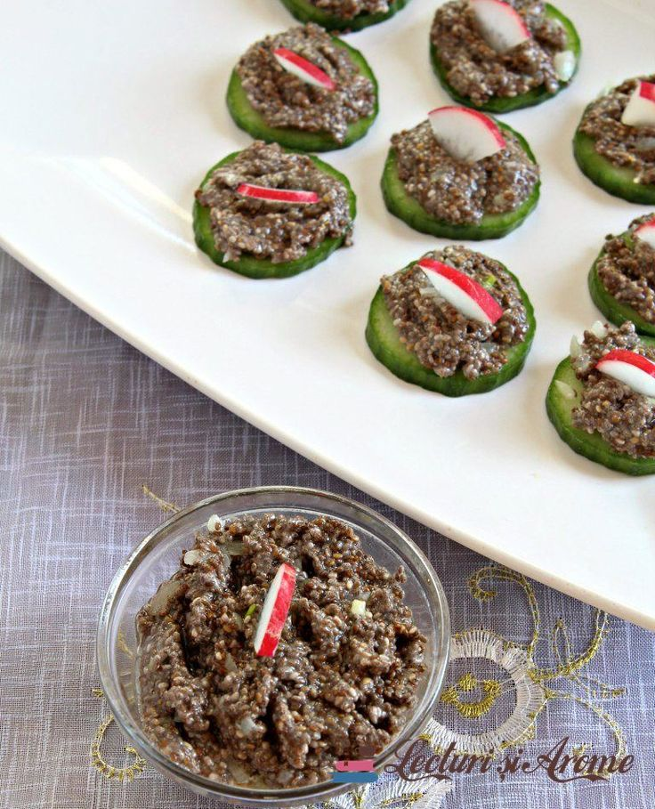 "Salata de icre din seminte de chia (de post) Raw vegan ""fish roe"" from chia seeds"