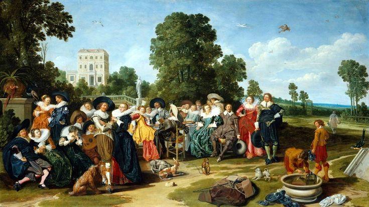 Dirk Hals - Праздник на лоне природы, 1627