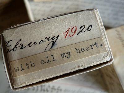 vintage letter-covered matchboxes <3
