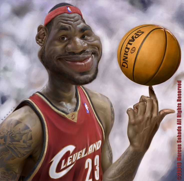 25 Hilarious Digital Caricatures Of Famous People: LeBron James
