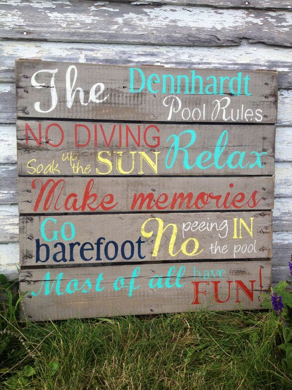 27 best funny swimming pool signs images on pinterest for Repurposed swimming pool