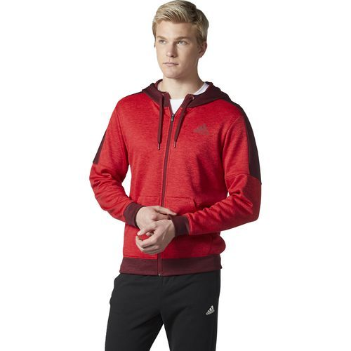 Adidas Men's Team Issue Fleece Full-Zip Hoodie (Red Bright, Size XX Large) - Men's Athletic Apparel, Men's Athletic Fleece at Academy Sports