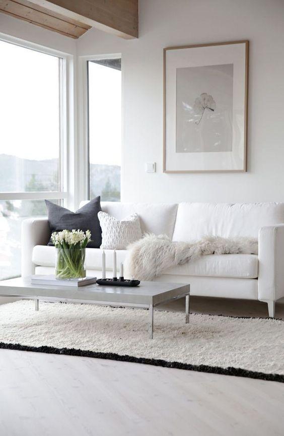 17 Flawless Interiors With White Leather Sofas Interiordesignshome Com Belye Interery Interer Dizajn Interera