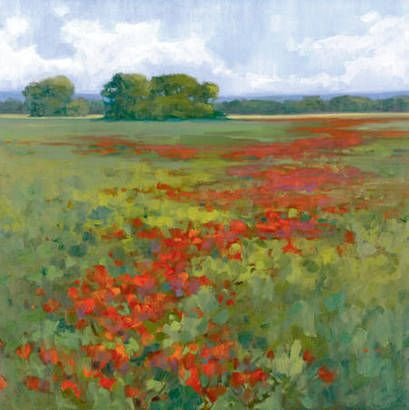 Gallery Direct Fine Art Prints: Red Poppies I by Kim Coulter