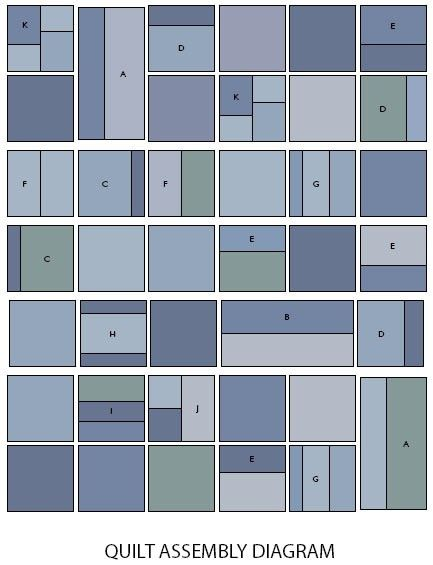 Layout for a jeans quilt!  Or any other quilt for that matter.