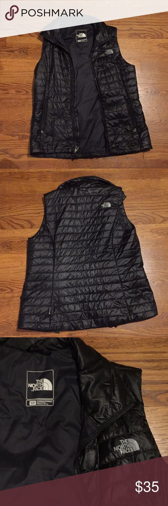 The North face fleece vest 100% nylon. black. size small. no flaws. The North Face Jackets & Coats Vests
