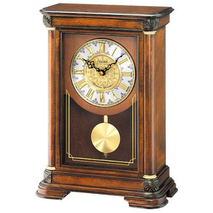 Seiko Brown Alder Mantel Clock - QXQ008BLH