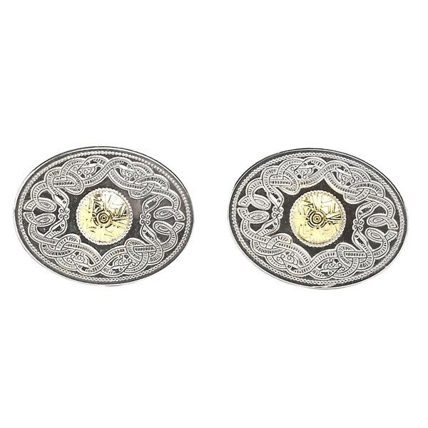 Celtic Warrior Oval Cuff Links with 18k Gold Bead - Celtic Cuff-Links - Rings from Ireland. Celtic Warrior Oval Cuff Links with 18k gold bead.   Inspired by the Ardagh Chalice which is the finest example of eight century metal, this item truly reflects this exquisite metalwork.