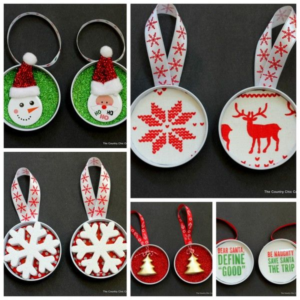 Get five ways to make mason jar lid ornaments. Turn those mason jar lids into something gorgeous for your Christmas tree with these quick crafts.
