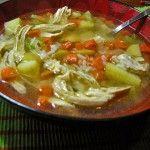 Lavender and Lovage | Canja de Galinha – Brazilian Chicken and Rice Soup | http://www.lavenderandlovage.com