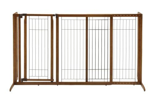 You spoke and we listened. Our ever-popular freestanding pet gate is now wider higher and includes a walk-thru lockable gate door. Available in Medium and Large sizes the new Deluxe Freestanding Pet...