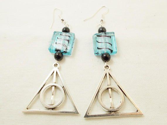 Harry Potter deathly hallows movie inspired long silver #harrypotter #deathlyhallows #originaljewelry