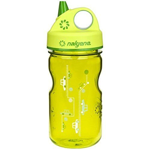 Kids' Bike Accessories - Nalgene Grip n Gulp Kids Water Bottle  BPA Free  12 oz  Green wCars *** Visit the image link more details.