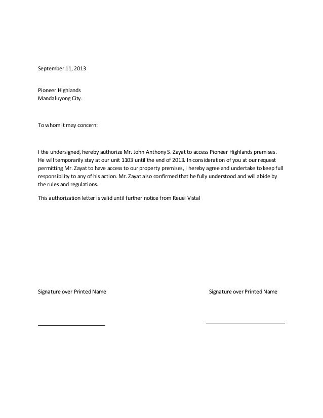 authorization letter process documents distributor sample dealer