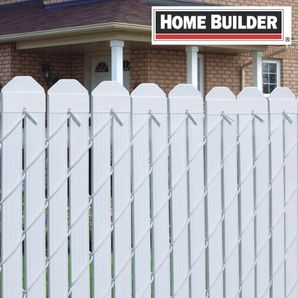 "Home Hardware - 80 Pack 48""L White Chainlink Fence Slats"