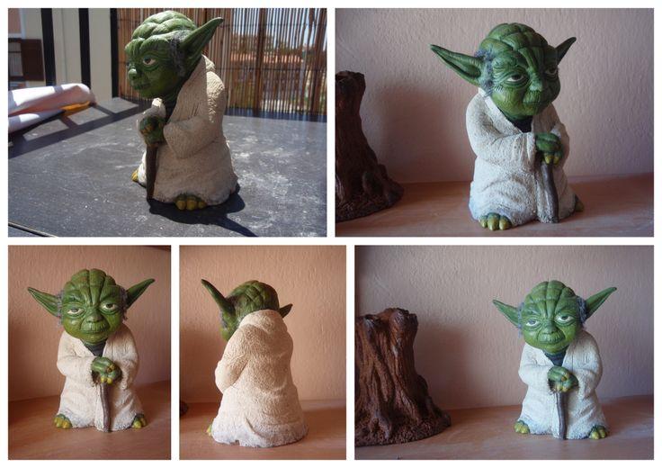 handmade ceramic yoda