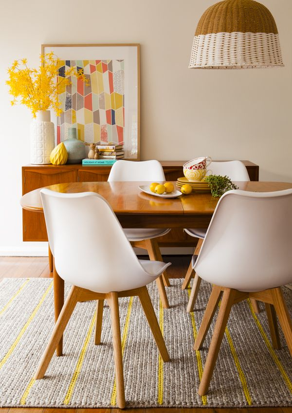 Let's talk inspiration! London loves colour and modern West Coast design so  it is important that the space is fun and functional for the family of  four. Here are the images that inspired us...     Entryway  We love how these would brighten up any entryway!      Dining Room  This room is filled with inspiration! Both the natural wood elements, fresh  pops of white, paired with a unique light fixture, creates a great space  full of texture and interest.    Living Room  Add one inviting sofa…