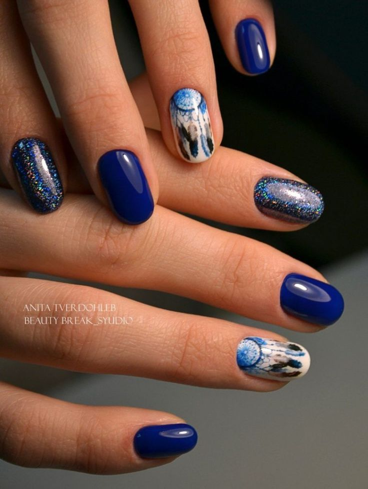 147 best Blue nails images on Pinterest | Bling nails, Blue nail and ...