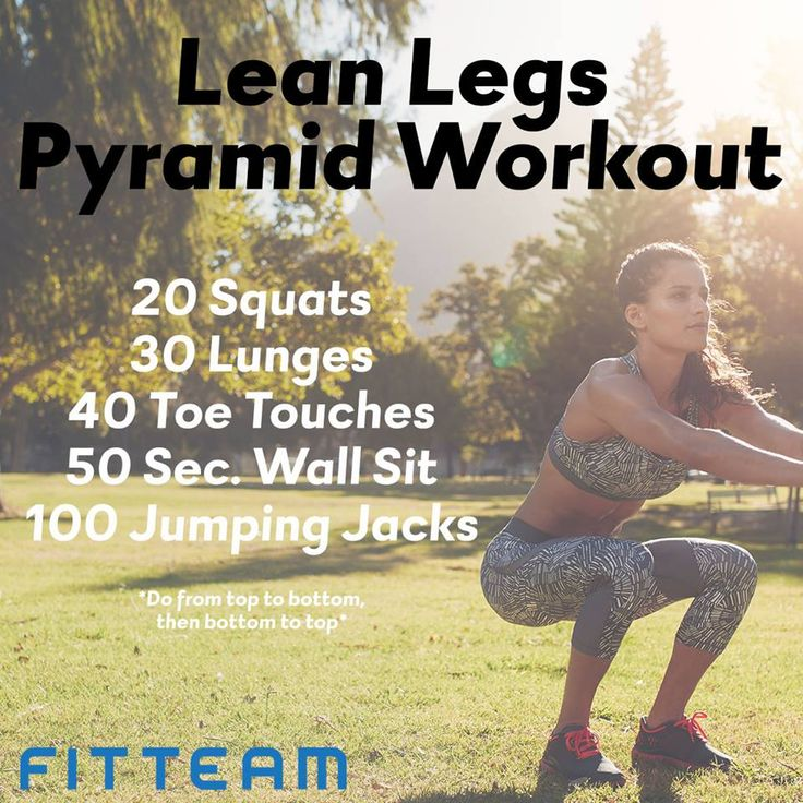 Get a nice leg burn with this Lean Legs Pyramid Workout. Drink your FIT and go! You'll be sure to burn a good amount of calories.