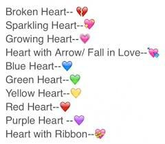 Image result for how to make a broken heart emoticon on facebook