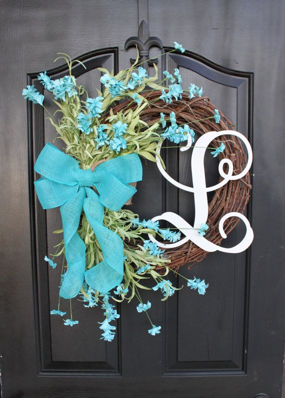 Hydrangea Wreath Spring Wreath for Mom Summer by OurSentiments