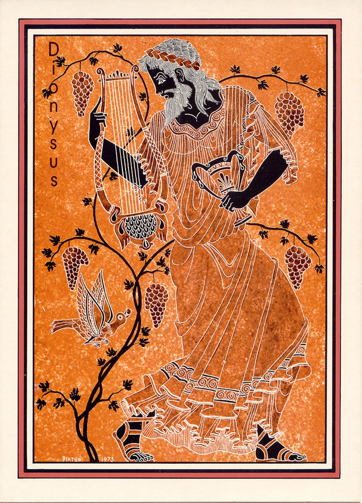 Poster of Dionysus, God of Wine | Dionysus/Bacchus | Pinterest