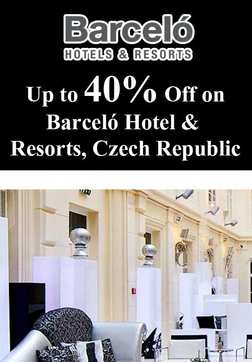 Barceló Hotels & Resorts rewards up to 40% for advance booking. Book for minimum 3 nights stay at the Barceló Brno Palace Hotel in Brno, Czech Republic and save up to 20%. Use the promocode and receive an extra 20% discount for family and suite rooms plus free Wi-Fi, late check-out until 14.00, free access to the gym and sauna. For more Barcelo Hotels Coupon Codes visit: www.couponcutcode.com/coupons/book-advance-save-40-barcelo-hotel-resorts-czech-republic/