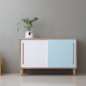 道奇家具简约现代/白橡木实木家具/餐边柜/边柜/储物柜/多功能柜