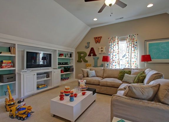 "Second Floor Bonus Room in Donaldson Model at WoodCreek. The kids need their own ""living"" area"
