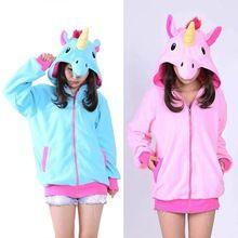 New Unicorn Hoodie Anime Costume Adult Animal Panda Stitch Hooded Sweatshirt Cosplay(China (Mainland))