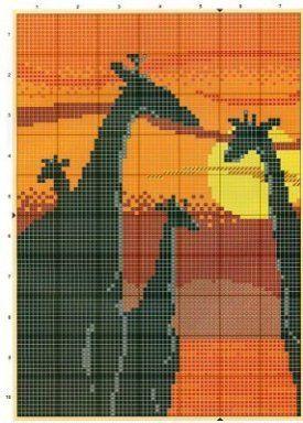 punto cruz africa   Aprender manualidades es facilisimo.com