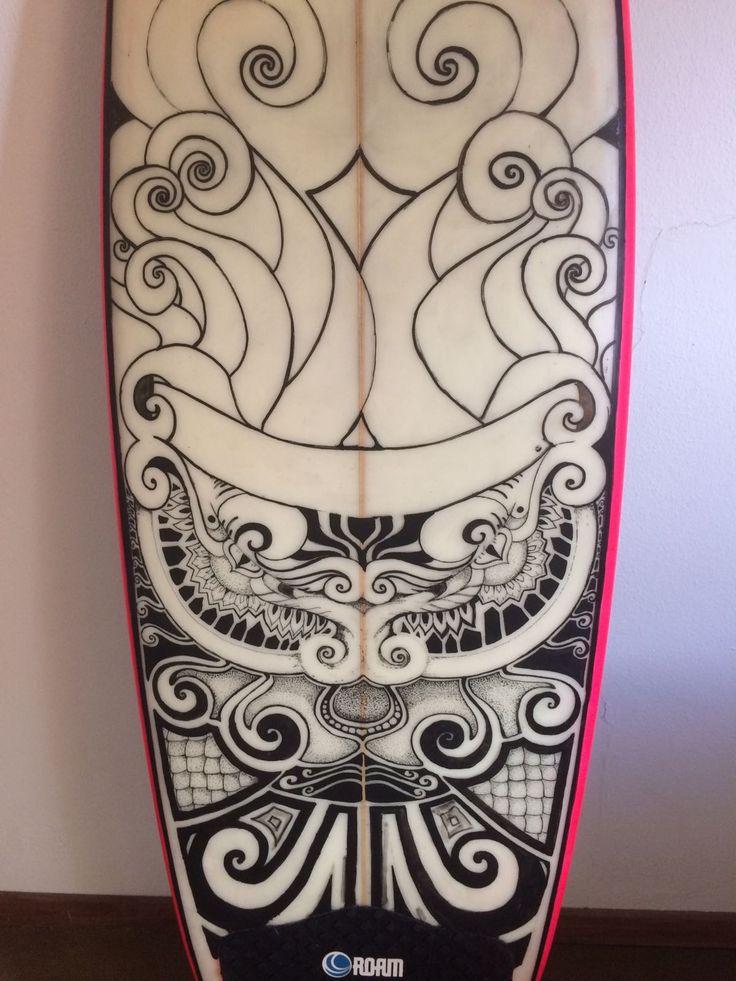 Posca drawing Surf board