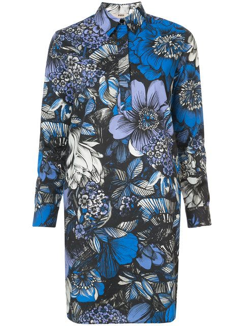 Shop Fuzzi floral print shirt dress.