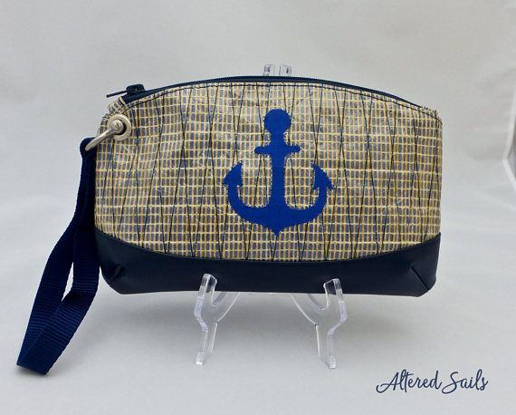 Hey, I found this really awesome Etsy listing at https://www.etsy.com/uk/listing/524953998/recycled-sailcloth-wristlet-blue-anchor