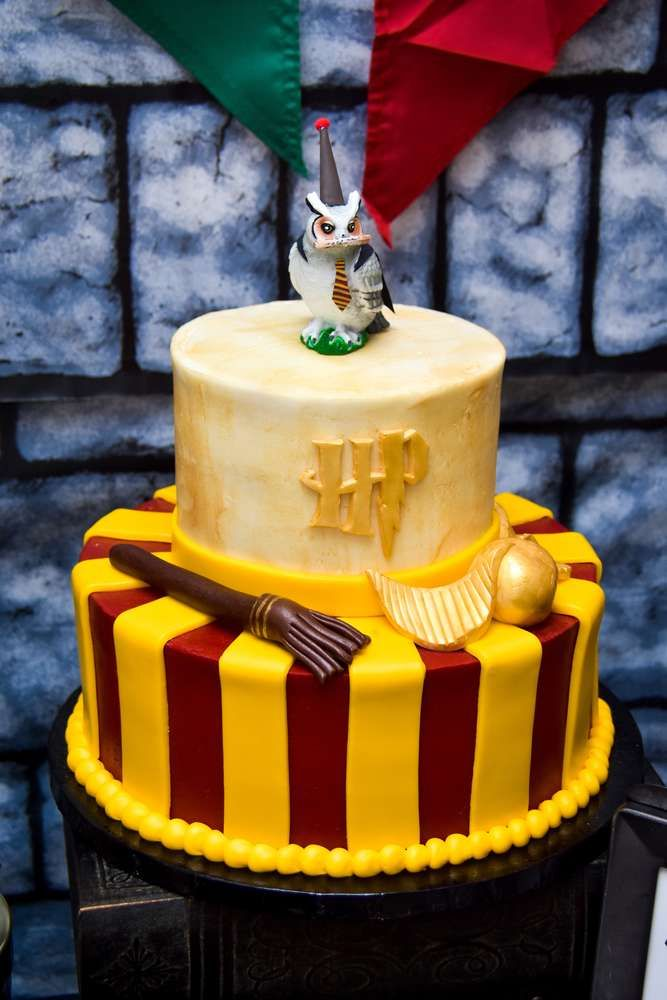 The perfect birthday cake for a Harry Potter fan! You are going to love the birthday party! See more party ideas and share yours at CatchMyParty.com #catchmyparty #cake #harrypotter