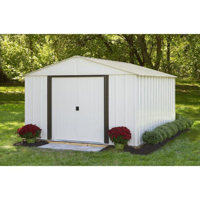 Arlington 10 ft. 3 in. W x 12 ft. 2 in. D Metal Storage Shed