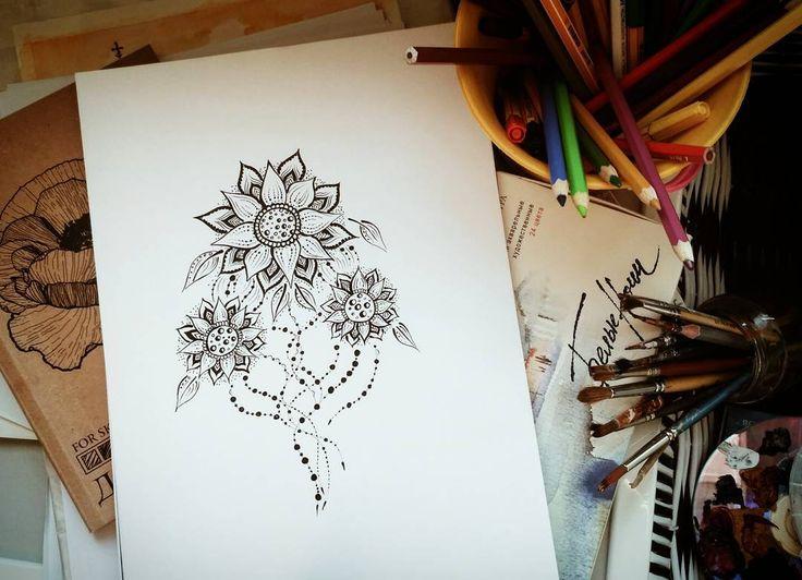 52 отметок «Нравится», 5 комментариев — ArtBlog  | Мехенди | SPb (@injurka) в Instagram: «Композиция называется лунный цветок. И она будет мне напоминать о том, что надо ложиться спать…»