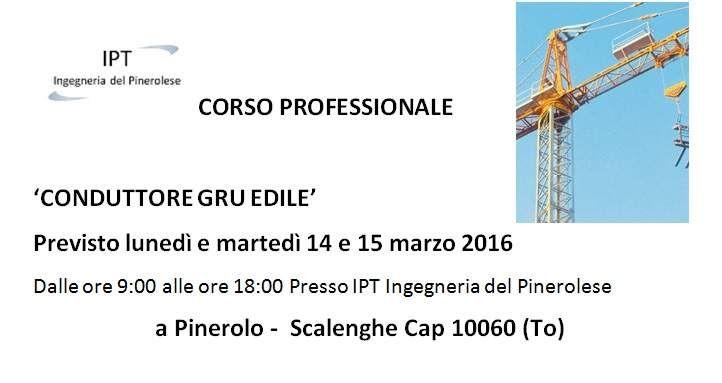 Corso Gru edile 14-15_03_2016 Pinerolo To