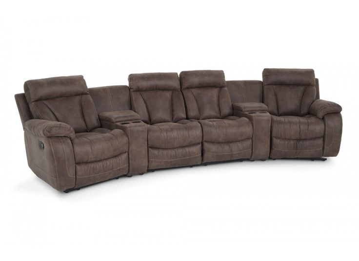 Tahoe 6 piece home theater sectional living room sets for 6 piece living room set