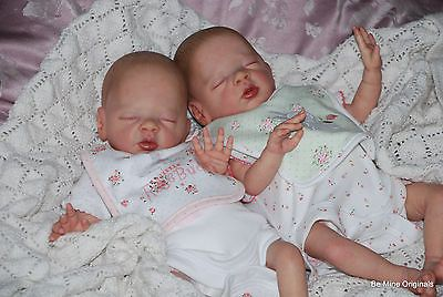 BM Originals Reborn Baby Girl Twin Dolls - Daisy by Bonnie Brown - Painted Hair