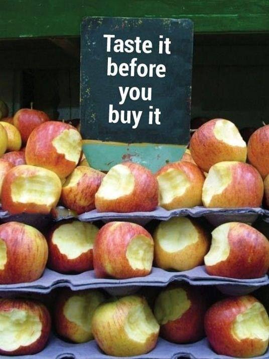 Taste before you buy
