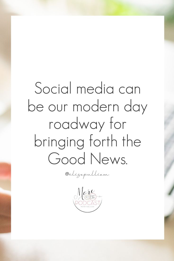 Social media an be our modern day roadway for bringing for the Good News.  #More…