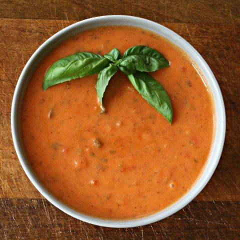 Creamy Tomato and Basil Bisque - Vegetarian