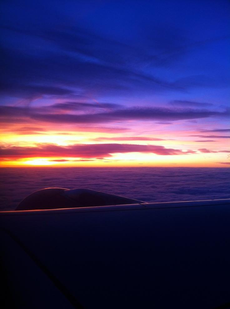 #Flying #Sunset