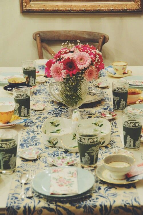 Garden and floral themed tea party