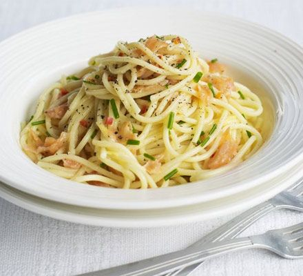 A super simple pasta supper that uses budget offcuts of fish with just a little heat, flavoured with fresh citrus and herbs